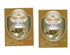 "Czech Republic Special Beer Parohac ´""cuckold"",  2016, Minibrewery Belveder  In Small City Zelezna Ruda, Set Of 2 Label - Bière"