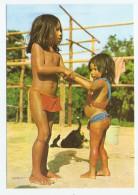 FOLKLORE GUYANE FRANCAISE HAUT ITANY JEUNES INDIENS WAYANA - GARCON ET FILLE - 2 Scans - Guyane
