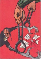 Carte RUSSE  PATRIOTIQUE  Caricature Hitler - Guerre 1939-45