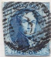 Belgie     OBP     7      (3)                    O                      Gebruikt  /  Oblitéré - 1851-1857 Médaillons (6/8)