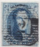 Belgie     OBP     7A          (2)                    O                      Gebruikt  /  Oblitéré - 1851-1857 Médaillons (6/8)