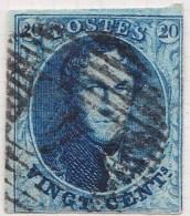 Belgie     OBP     7A          (4)                    O                      Gebruikt  /  Oblitéré - 1851-1857 Médaillons (6/8)