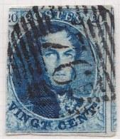 Belgie     OBP     7             (76)              O                      Gebruikt  /  Oblitéré - 1851-1857 Médaillons (6/8)
