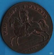 Norwich (Norfolk) Rooks Queens Bays Dragoon Barracks 1793 HALFPENNY  PRO REGE ET PATRIA - Professionnels/De Société