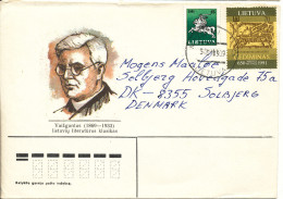 Lithuania Cover Sent To Denmark Mazeikiai 3-1-1994 - Lithuania