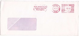 1991 Kizilay TURKEY COVER METER Stamps SLOGAN Pmk OUR CULTURE Is SOURCE OF CONTEMPORAT ART - 1921-... Republic