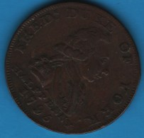 Middlesex National Series London 1795/1794 HALFPENNY  Fredrick Duke Of York  D-H 992 - Professionals/Firms