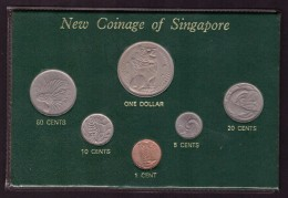 DECIMALE SINGAPORE - NEW COINAGE OF SINGAPORE - ANNO 1967- ONE DOLLAR - 50 CENTS - 20 CENTS - 10 CENTS - 5 CENTS - 1 CEN - Singapore