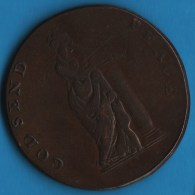Middlesex National Series London  HALFPENNY  Fredrick Duke Of York  GOD SEND PEACE D-H 984 - Professionals/Firms