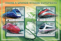 Zentralafrika / Centrafricaine Kleinbogen  Hochgeschwindigkeitszüge - Treni