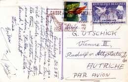 GUINEA 1958 - 2 Sondermarken Auf Osterkarte Gel.v.Conakri > Wien - Guinea (1958-...)