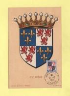 Carte Maximum - N°951 - Armoiries De La Picardie - 1950-59
