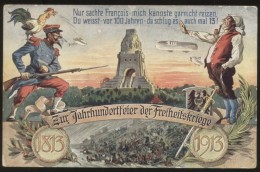 Zur Jahrhundertfeier Der Freiheitskriege Völkerschlachtdenkmal 1813-1913 - Militari