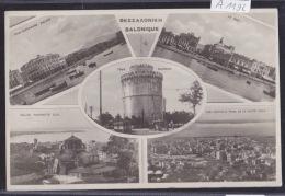 Grèce, Salonique Vers 1923 : Mediterranean Palace - Eglise Proph. Elie, Quai, Centre Tour Blanche, Tram (A 1192) - Grèce