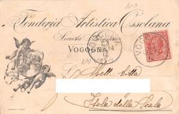 """05741 """"VOGOGNA (VB) - FONDERIA ARTISTICA OSSOLANA S. A."""" CART. COMM. INTEST., SPEDITA 1912 - Commercio"""