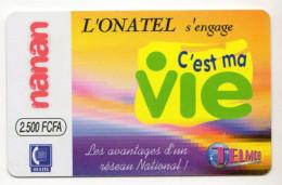 BURKINA FASO Prepayé ONATEL NANAN C´est Ma Vie 2500 CFA - Burkina Faso
