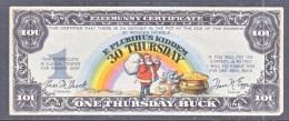 U.S.  DEPRESSION  ERA  MONEY  1930  ONE  THURSDAY  BUCK - United States Notes (1928-1953)