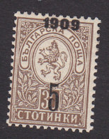 Bulgaria, Scott #79, Mint Hinged, Lion Surcharged, Issued 1909 - Unused Stamps
