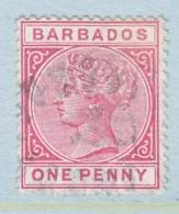 BARBADOS  61 A  Rose   (o)   Wmk. 2 - Barbados (...-1966)
