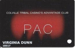 Colville Tribal Casinos Washington State - Player´s Advantage Club Card - Casino Cards