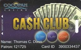 Cocopah Casino Somerton, AZ Slot Card - Casino Cards