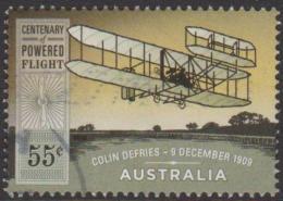 AUSTRALIA - USED 2010 55c Centenary Of Powered Flight - Bi-Plane - 2010-... Elizabeth II