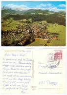 AK Stadion Postkarte Scheidegg Im Allgäu Fußball Sportplatz Plattling Luftbild Luftfoto I Football Ground Deutschland - Fussball