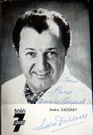 ANDRE DASSARY  PHOTO DEDICACEE  CHANSON VARIETE CINEMA THEATRE - Fotos Dedicadas