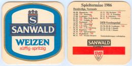 Bierdeckel Sanwald Weizen Extra VfB Stuttgart Herbst 1986-87 Fußball Dinkelacker Bundesliga Deutschland Bierfilz Beer Ma - Sous-bocks