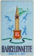 Barcelonnette - Une Ancienne Affiche Touristique Reproduite Carte Postale - Publicité