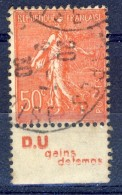 #(29)France. Advertising. DOCUMENTATION UNIQUE. Yvert 199h. Type IV. Braun 289. Used(o) - Advertising