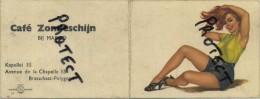 Brasschaat-Polygoon : Café ZONNESCHIJN Bij MARGO ( Oude Kalender 1958  17 X 6.5 Cm ) PIN-UP Girl - Calendriers