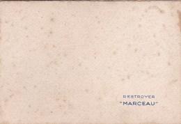"""DESTROYER """" MARCEAU """"  Gravure Dans Pochette Double Cartonnée 12,5 Cm / 8,5 Cm - Krieg"""