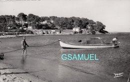 83 - CPSM. BORMES LES MIMOSAS. POINTE DU GOURON PLAGE DE LA FAVIERE. DENTELLEE. - (voir Scan). - Bormes-les-Mimosas
