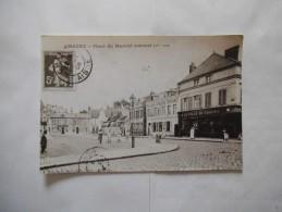 CHAUNY PLACE DU MARCHE COUVERT PHOTOGRAPHIE D'UNE CARTE POSTALE 1908 18cm/12cm - Reproductions