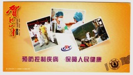 Emergency Exercise Of Prevent Type A H1N1 Influenza Virus,disinfection Earthquake,CN 11 Shaoxing Health Bureau PSC - Disease