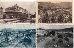 NEUSSARGUES - 4 CPA - Ecole Apostolique - Vallée De L' Alagnon - La Gare - La Gare P.O. Midi  (88527) - Otros Municipios