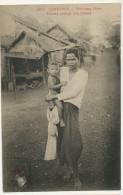 1685 Kompong Cham Femme Portant Son Enfant Edit Dieulefils Timbre Decollé - Cambodge