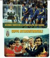 SAN MARINO  2 Phonecards - 100th Anniversary Of Juventus Football  ( Platini) - San Marino