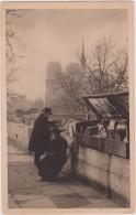 Carte Postale Ancienne,PARIS EN 1931,AVEC TMBRE EXPOSITION COLONIALE,métier,bouquini Ste,acheteur De Livres,notre Dame - Arrondissement: 04