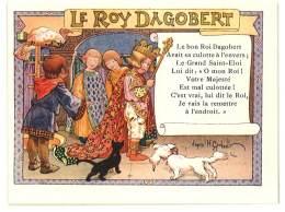 Chromo Alcool De Menthe Ricqlès, Le Roy Dagobert, Signée Gerbault, Partition De Musique Au Verso - Autres