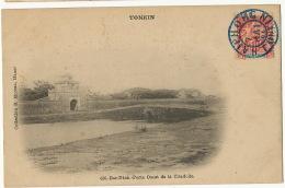 Tonkin  656 Bac NInh Porte Ouest De La Citadelle Coll. Moreau  Cachet Haiphong Encre Bleue - Vietnam