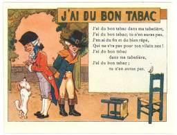 Chromo Alcool De Menthe Ricqlès, J'ai Du Bon Tabac, Signée Gerbault, Partition De Musique Au Verso - Autres