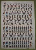 Imagerie D'Epinal - GRENADIERS DE LA VIEILLE GARDE Sous Napoléon 1- Planche D'uniforme Par Pellerin & Cie à Epinal N°407 - Stampe & Incisioni