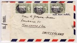 GB Kol. Trinidad & Tobago 7.8.1945 Trinidad Zensur Brief über Lisabon Nach Küsnacht ZH - Trinité & Tobago (...-1961)
