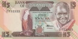 (B0166) ZAMBIA, 1980-1988 (ND). 5 Kwacha. P-25d. UNC - Zambia