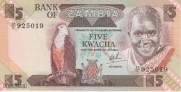 (B0167) ZAMBIA, 1980-1988 (ND). 5 Kwacha. P-25c. UNC - Zambia