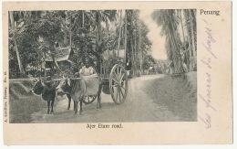 Penang Ajer Etam Road  Edit A. Kaulfuss No 45  Ox Cart - Malasia