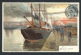 CPA - ANVERS - ANTWERPEN - Illustrateur Ranot - Bassin De La Campine - Bateau   // - Antwerpen