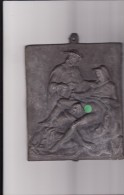PLAQUE-MOULE-PLOMB-SEXY-2 HOMMES + 1 FEMME-A VOIR- - Sculptures